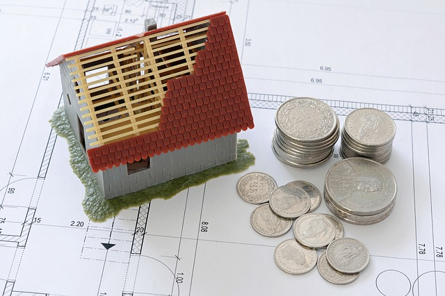zdjęcie domku i monet